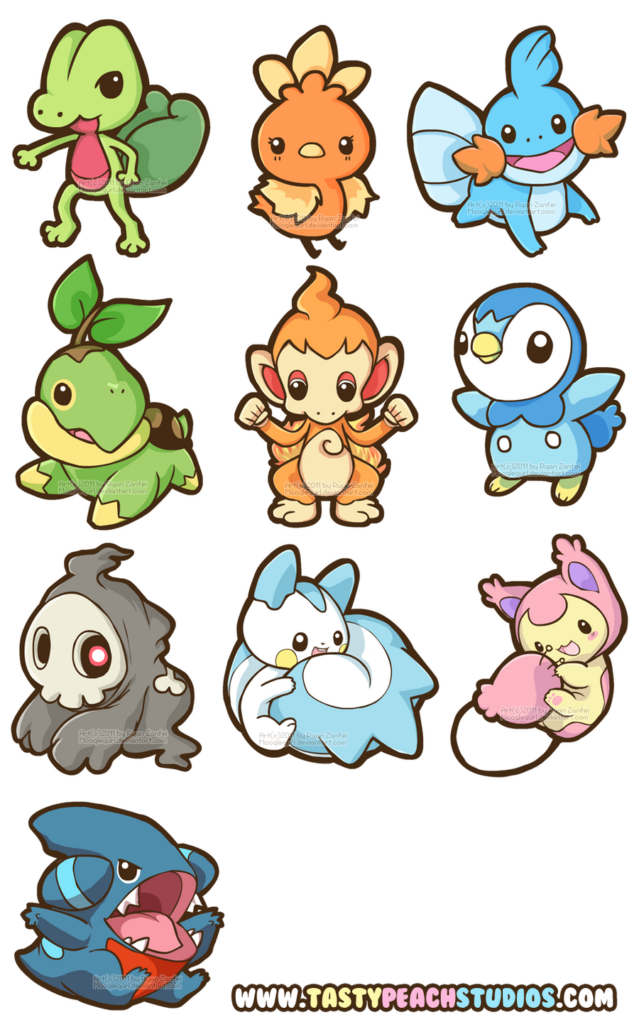 Pokemon Gen 3 and 4 by MoogleGurl