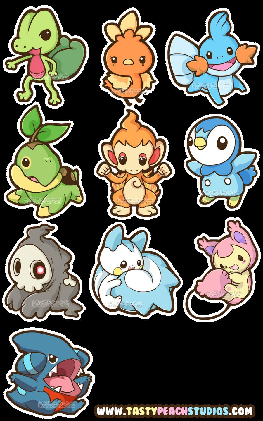 Pokemon Gen 3 and 4 by MoogleGurl