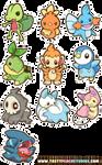 Pokemon Gen 3 and 4