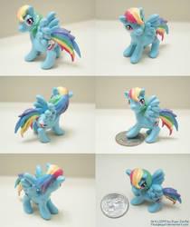 Miniature Rainbow Dash Sculpture Updated by MoogleGurl