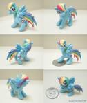 Miniature Rainbow Dash Sculpture Updated