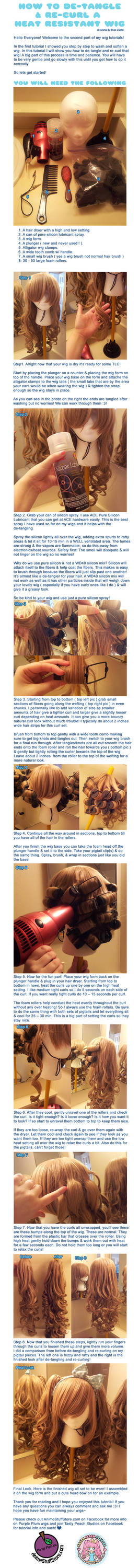 How to De-tangle and Re-curl a Heat Resistant Wig