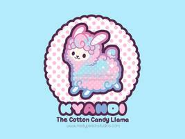 Kyandi the Cotton Candy Llama by MoogleGurl