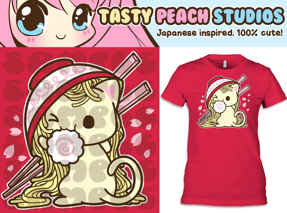 TPS: Udon Kitten Tee by MoogleGurl