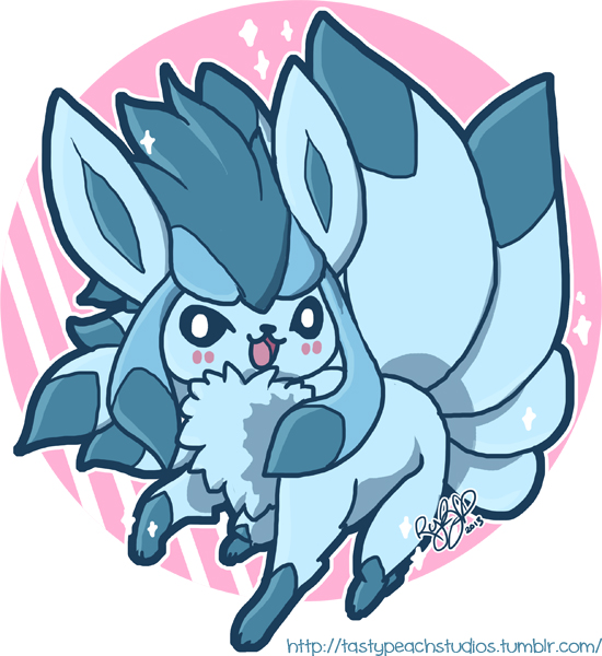 Pokemon Fusion Glaceon Ninetails By Mooglegurl On