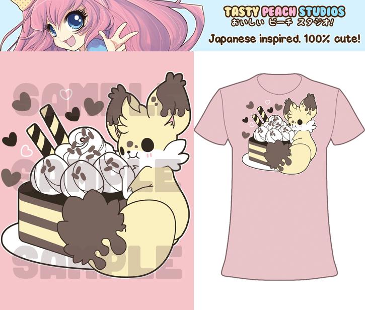 TPS: Kekitsu Fennec Cake Fox Tee by MoogleGurl