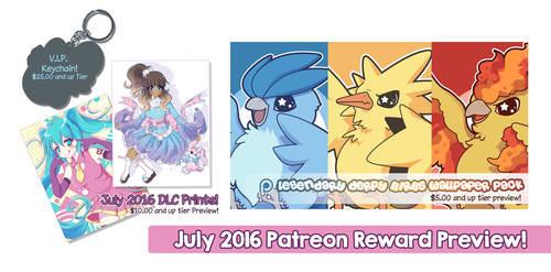 July 2016 Patreon Rewards Preview