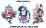 Patreon Charms Zero Two, Fran, and Baby Behemoth