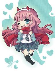 Zero Two | School-Girl Chibi