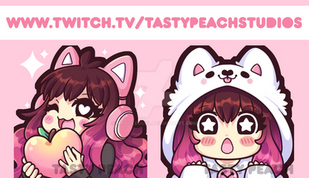 Twitch Emotes| Tasty Peach Studios