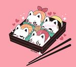 Sushi Meowchi Bento Box