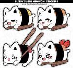 Sushi Meowchi Stickers