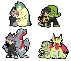 Chibi trainers and pokes by CasFlores
