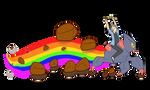 Rockblast rainbow by CasFlores