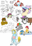 Stream doodles 1 by CasFlores