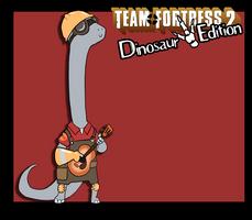 Random Art - TF2 Dinosaur Edition - Engineer by CasFlores