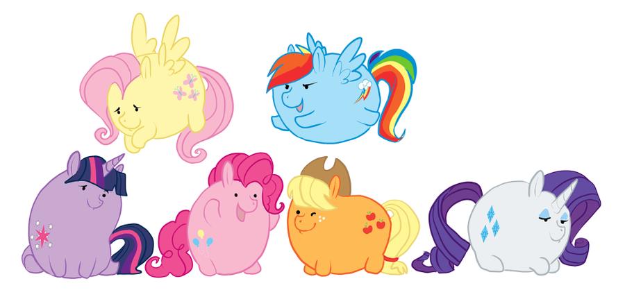 Random Art - MLP FIM Fat Ponies by LeeLeeMoreau