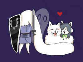 Temmie and Lesser dog