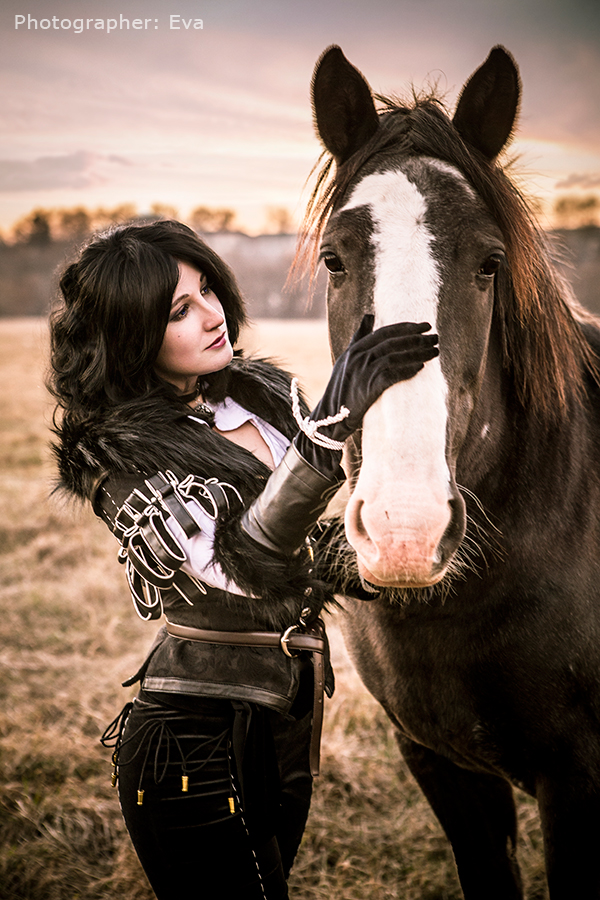 Witcher 3 - Yennefer and Plotka by ilona-lab