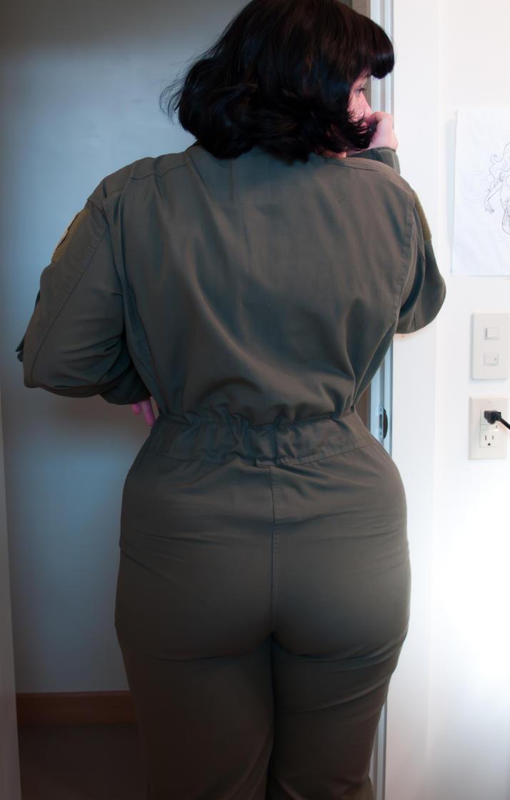 little flightsuit butt by underbust