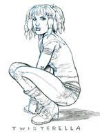 Twisterella pencil sketch by funrama