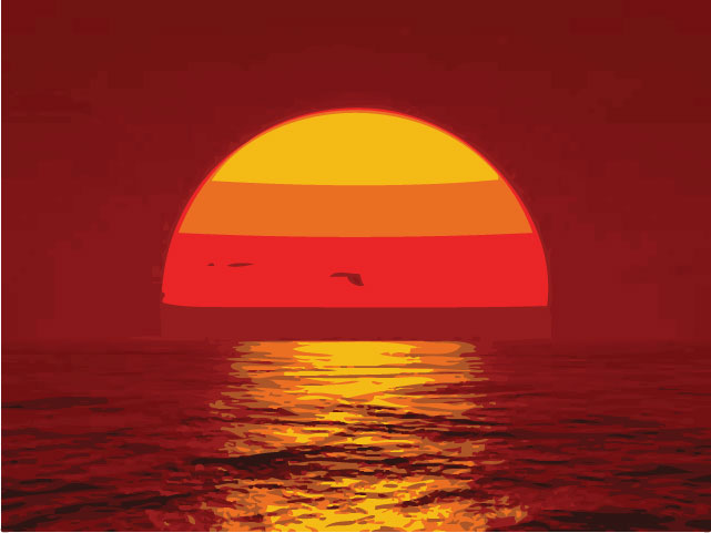 pin house cartoon sunset - photo #1