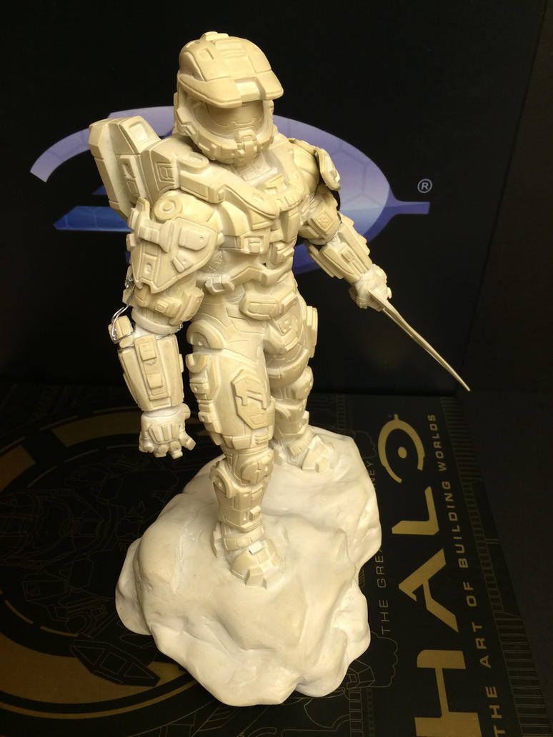 Halo 4 Master Chief Statue by xar8