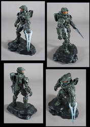 Halo 4 Master Chief Statue Painted
