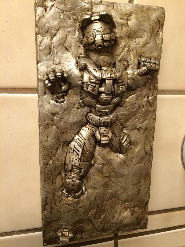 Master Chief in Carbonite by xar8