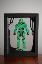 Halo Master Chief Paper Art