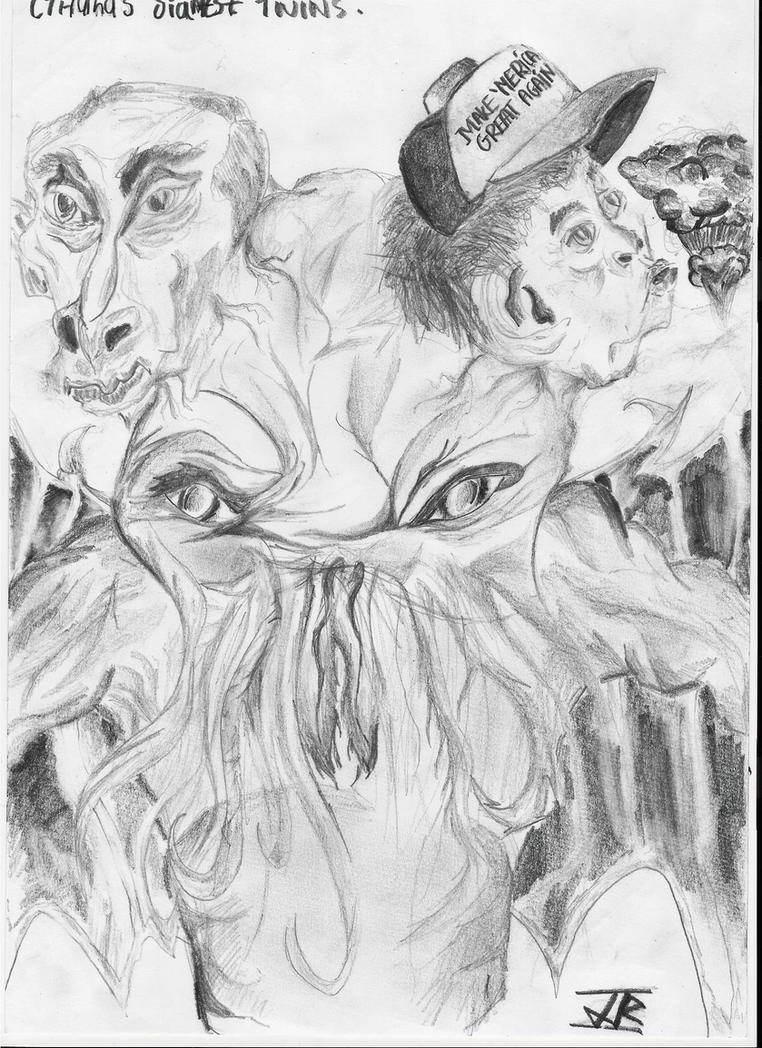 Cthulhu's Siamese Twins by AnEmoLeprechaun