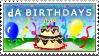 dA Bday Stamp CAKE by Azchara