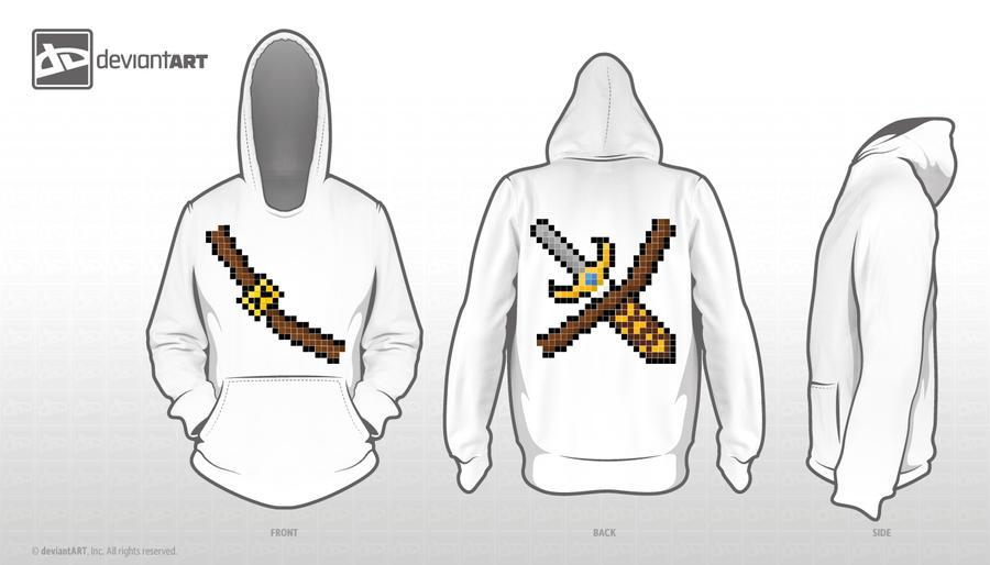8-bit Sword hoodie by Azchara