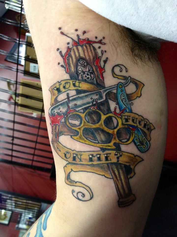 New school tattoo by steve860 on deviantart for Is a d ointment good for new tattoos