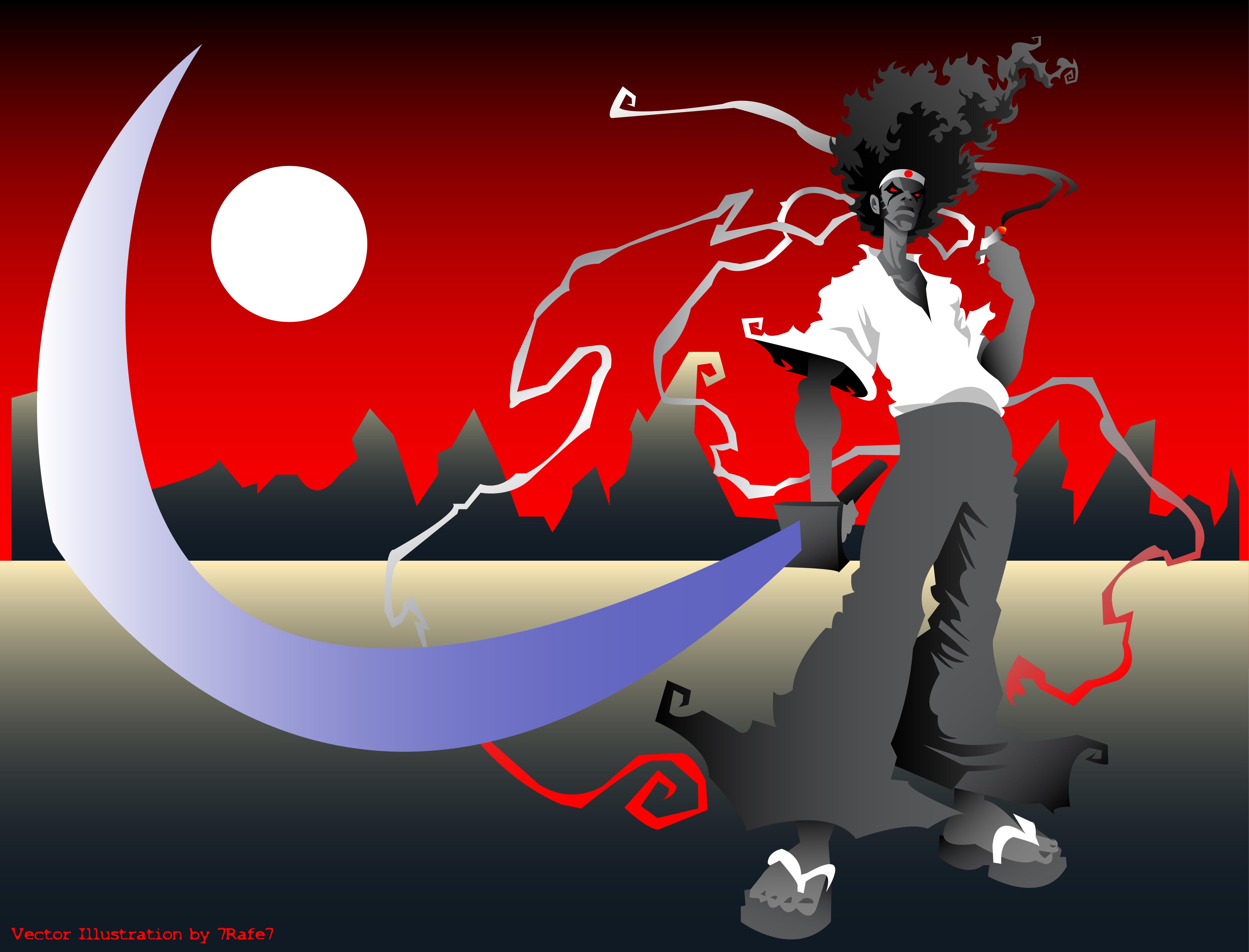 Afro Samurai Vector by 7rafe7 on DeviantArt