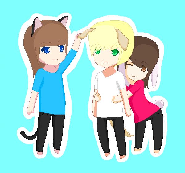 Three Best Friends by dreamersdiary on DeviantArt