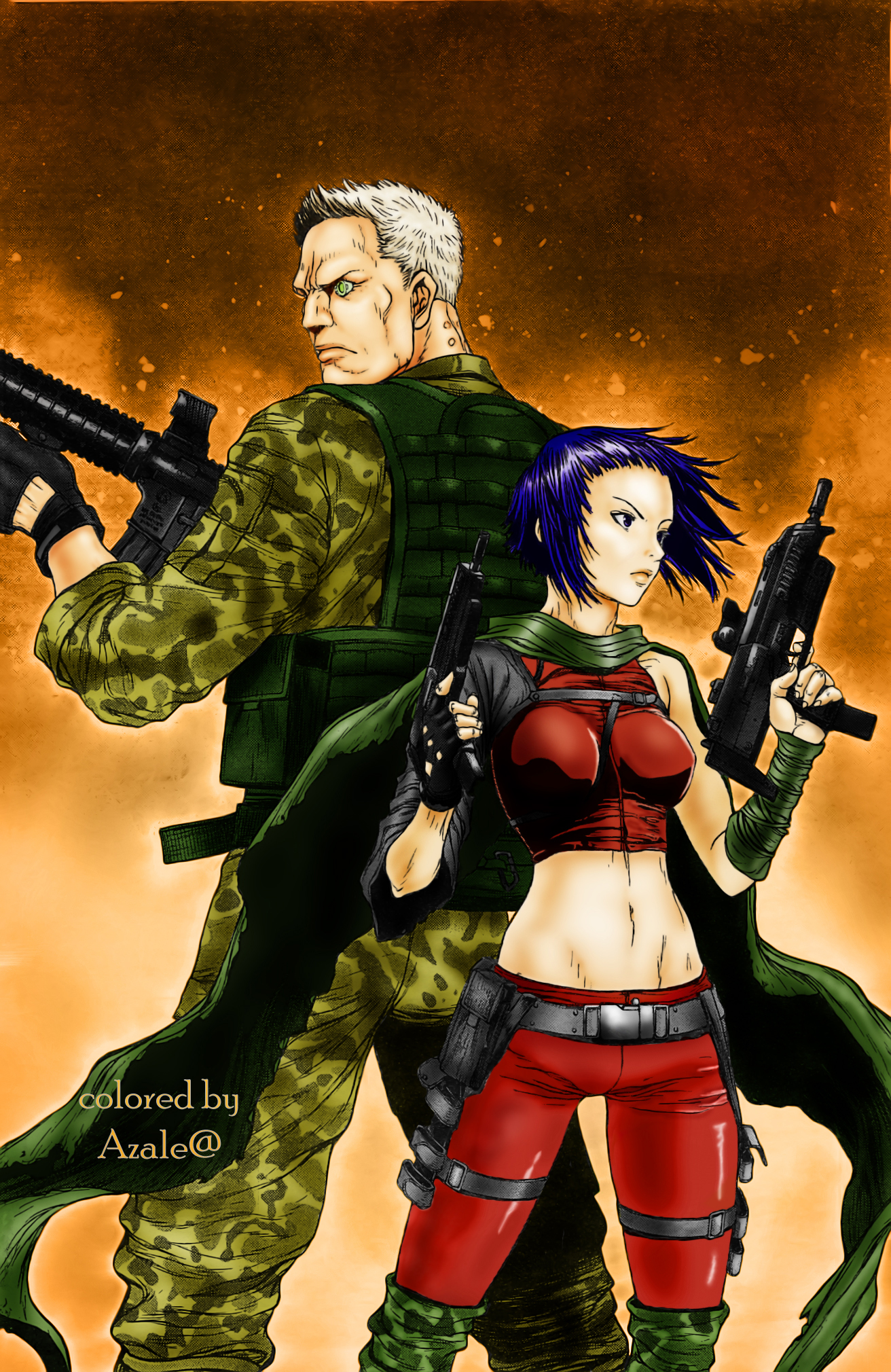 Ghost In The Shell Arise Motoko And Batou By Azalea92 On Deviantart