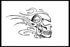 monster Skull tattoo by Blastermind