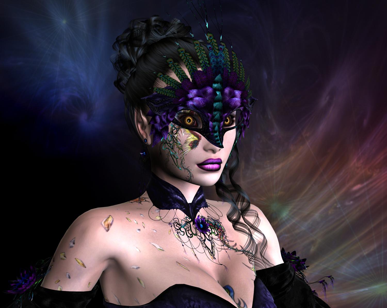 Рисованные девушки в маске 17 фотография