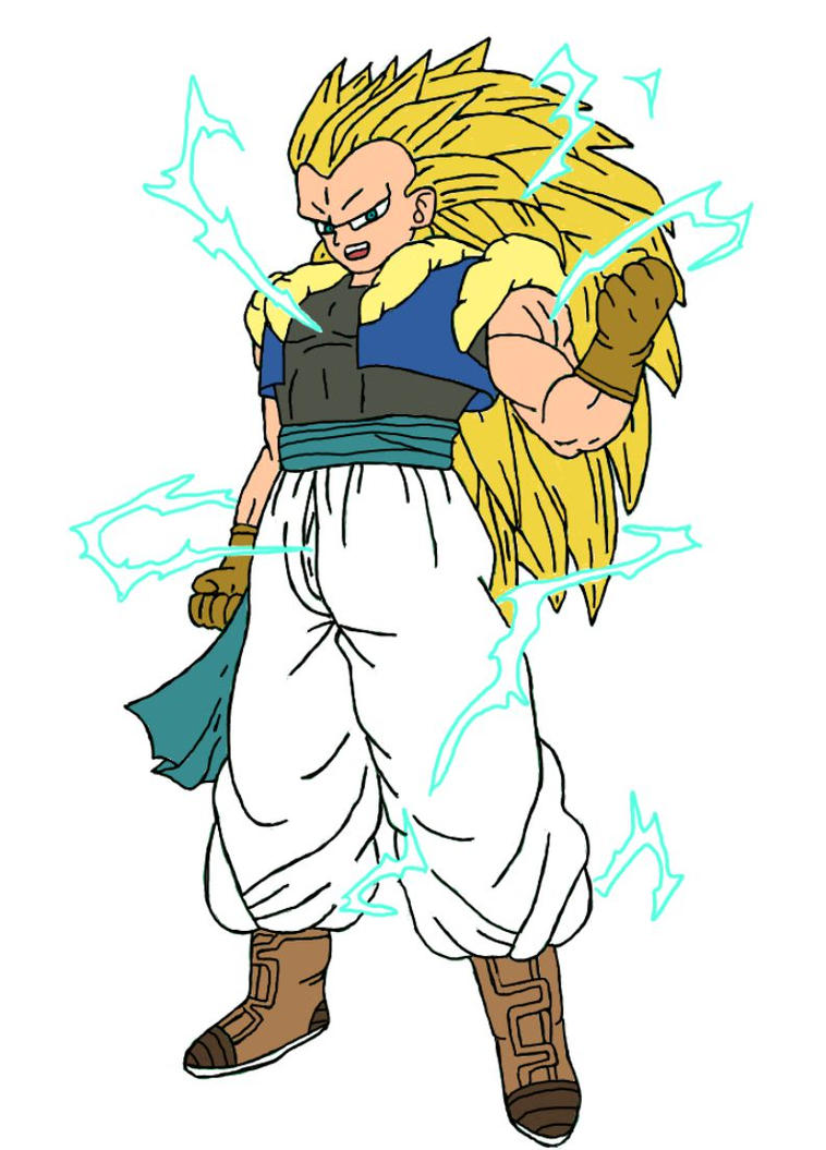 Gotenks / Saga GT / Super Saiyan 3 by zener88 on DeviantArt