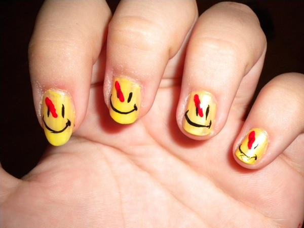 Watchmen Nails by Princespurple107