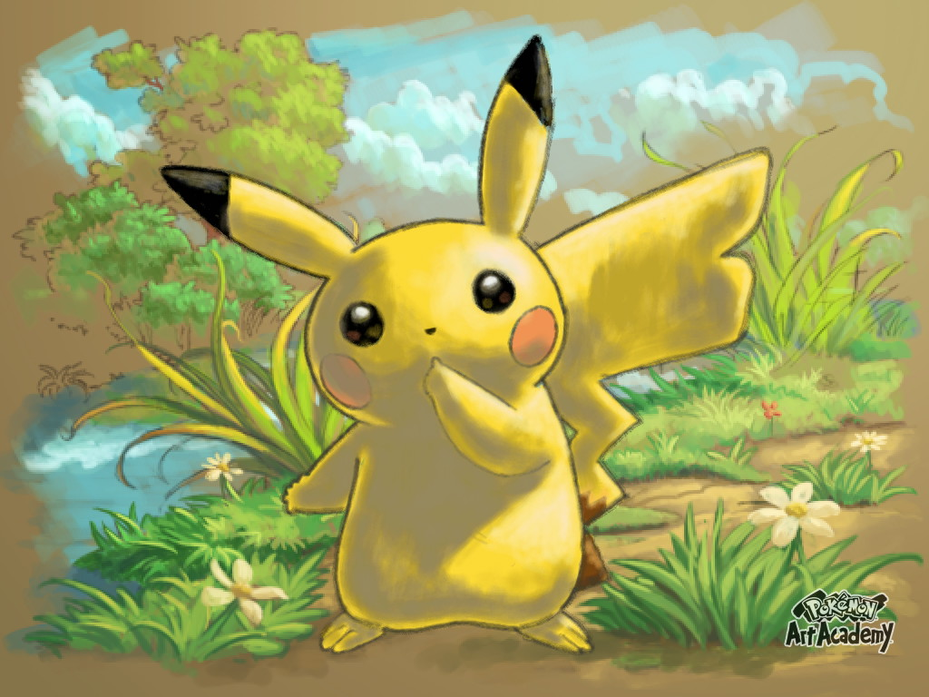 Pokemon art academy: Pikachu by javifg92