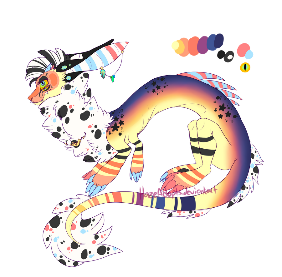 [OC REFF] Chomper And Delilah by HazeAdopts