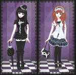 Goth Gals by Bonekabob
