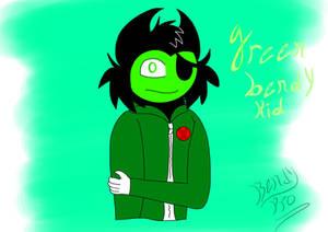 Green bendy kid (gift art)
