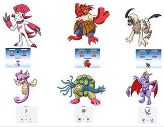 Pokemon Fusion Set 1 by elementhedgehog
