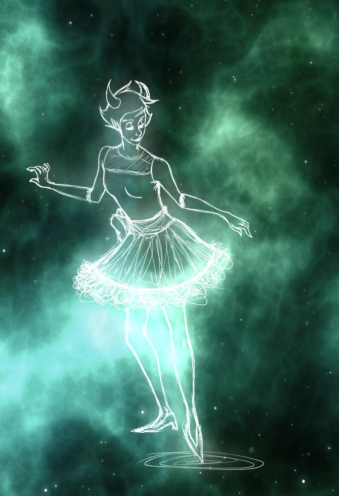 intergalactic vampire lady by InkyFridays