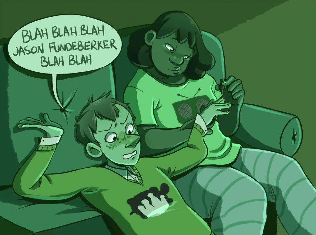 sleepover/makeover/movie night by InkyFridays