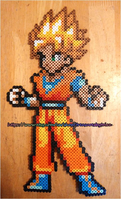 Super Saiyan Goku Perler Art! by spookzira