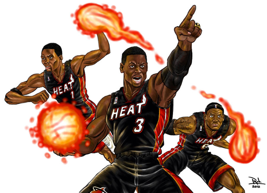 The big 3 of the miami heat by robcabrera on deviantart the big 3 of the miami heat by robcabrera voltagebd Image collections